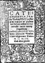 The title page of the first Lithuanian book.